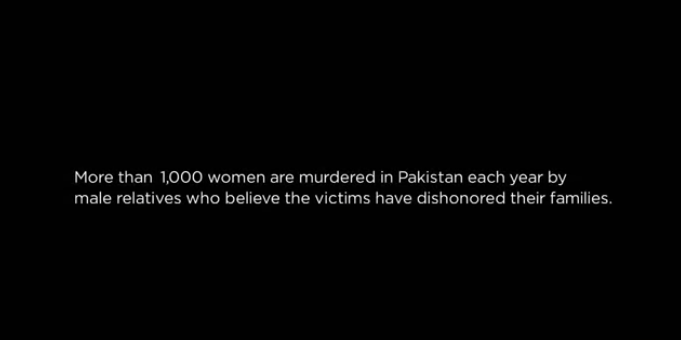 Intro to the Girl in the River documentary with facts about GBV in Pakistan