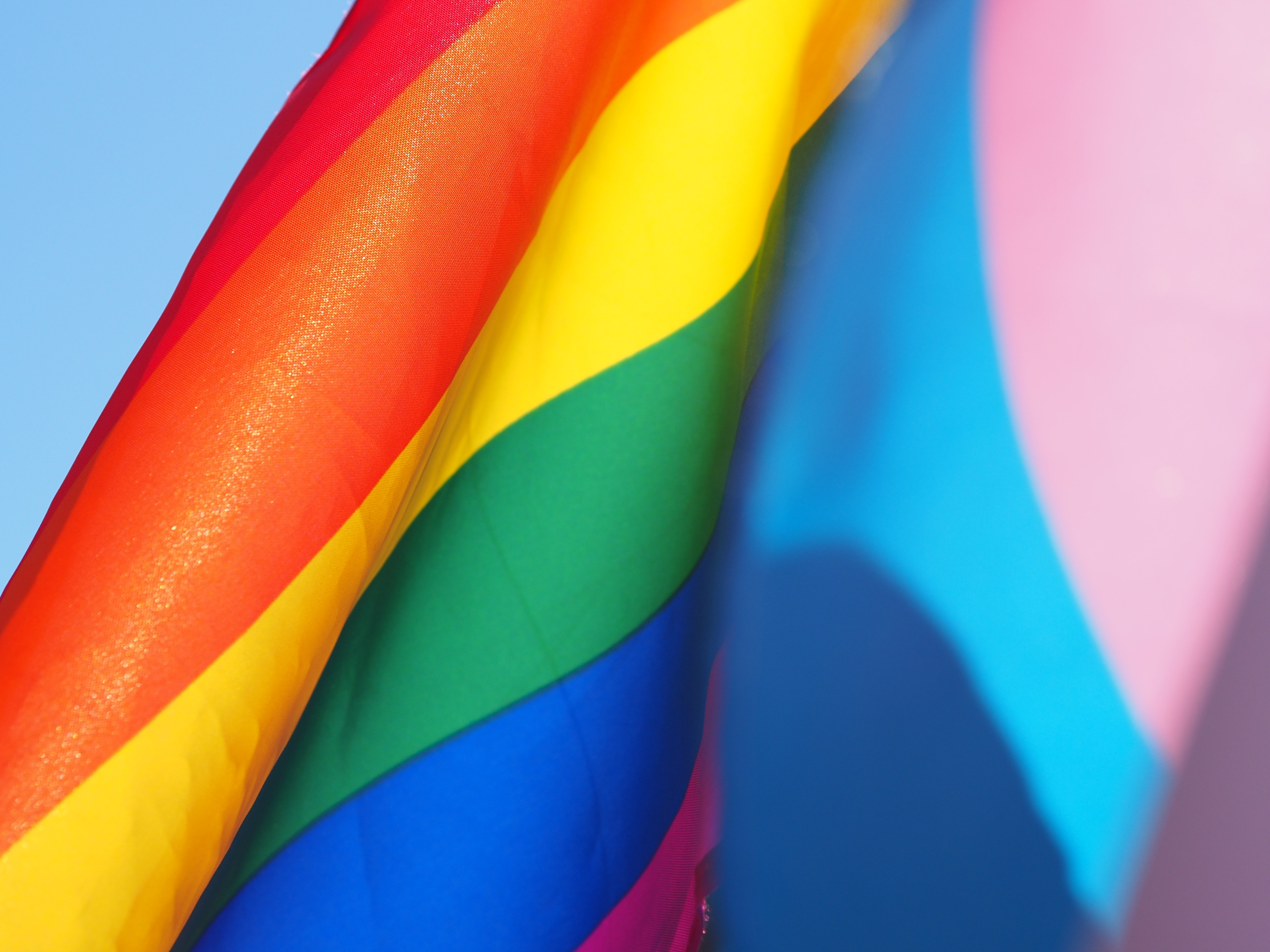 Rainbow flag close-up