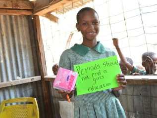 Menstrual health support for girls inKenya
